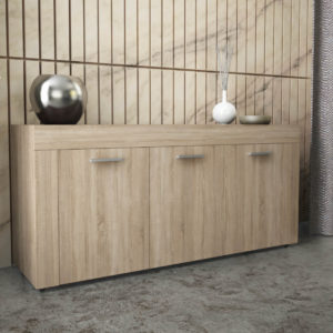 Sideboard with 3 Doors & 3 Shelves in Natural Oak Color