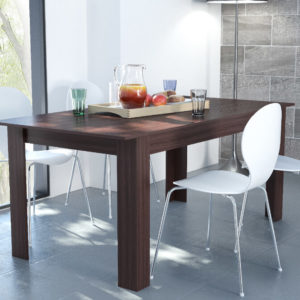 Extendable Dining Table Dark Brown