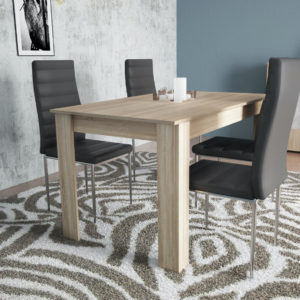 Extendable Dining Table Natural Color