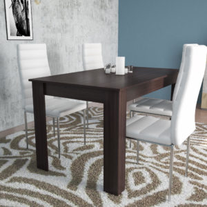 Dinning Table for 6 Persons In Dark Brown Color