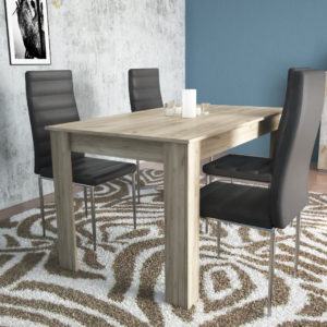 Dinning Table for 4 Persons In Grey Oak Color