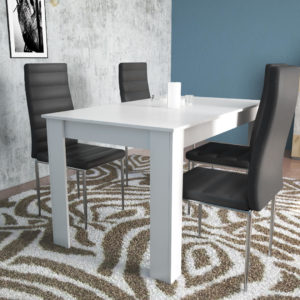 Dinning Table for 4 Persons In White Gloss Color