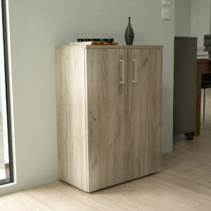 Low Cabinet in Grey Oak Color