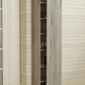 Single Door Cabinet in Grey Oak Color
