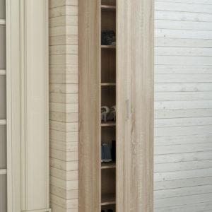 Single Door Cabinet in Natural Oak Color