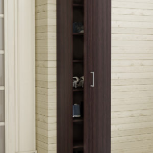 Single Door Cabinet in Dark Brown Color