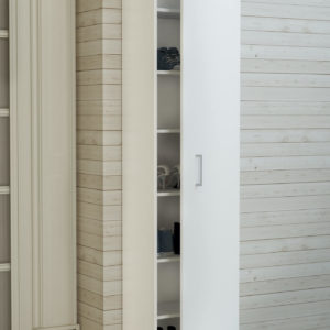 Single Door Cabinet in White Matt Color