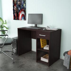 Office Desk In Dark Brown Color