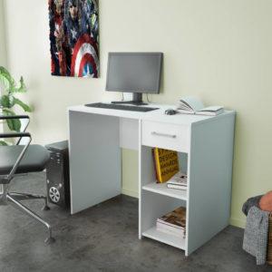 Office Desk In White Matt Color
