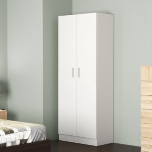 Wardrobe 2 door White Matt Color