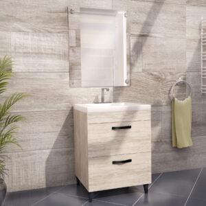 Vanity Bathroom Sink Cabinet in White Wooden Effect Color
