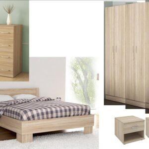Complete Master Bedroom In Natural Oak Color