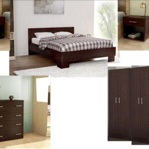 Complete Master Bedroom In Dark Brown Venge Color