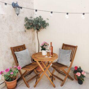 Balcony Outdoor Wooden Set